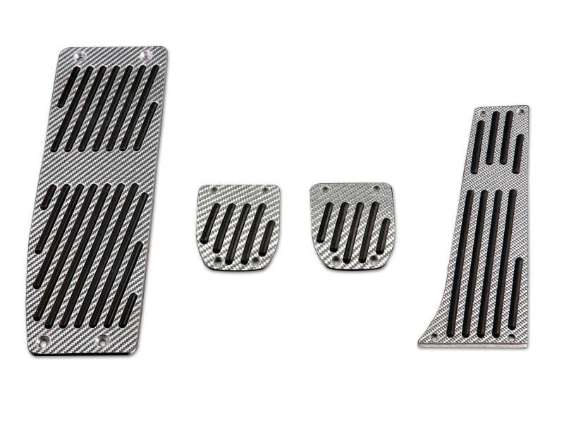 Silver Carbon Pedals Set For BMW E46 Sedan Coupe MT MANUAL LHD ZHP 4PCS