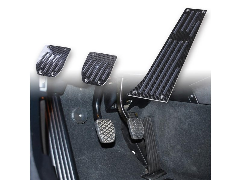 Black Carbon Fiber MT Pedal 3 Pcs For BMW E30 E36 E90 E92 E46 E82 E88 E85 E86 E89 Z3