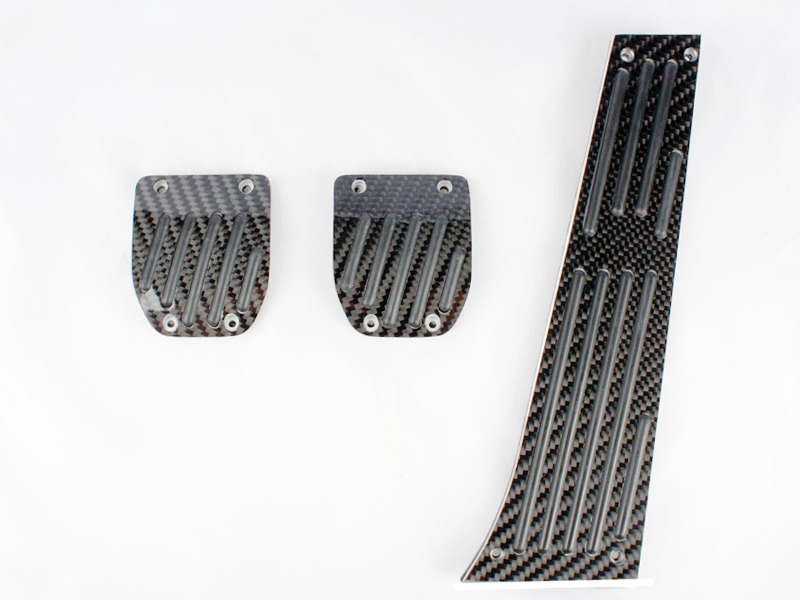 Black Carbon Fiber MT Pedal 3 Pcs For BMW E39 E28 E34 E39 E60 E61