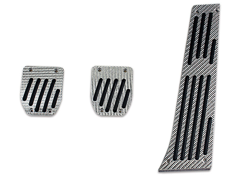 Silver Carbon Fiber MT Pedal 3 Pcs For BMW E39 E28 E34 E39 E60 E61