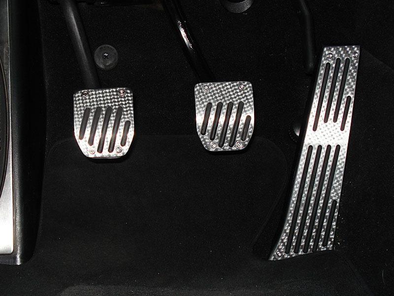 BMW E39 SILVER CARBON MT PEDAL 3PCS E28 E34 E39 E60 E61