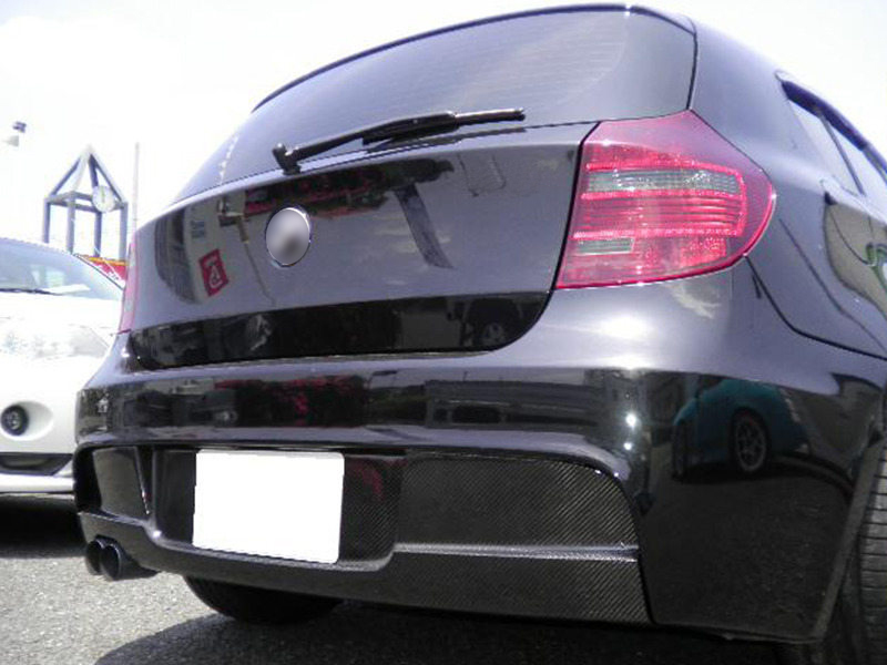 BMW 1 Series E81 3D E87 5D HATCHBACK M SPORT CARBON FIBER REAR BUMPER DIFFUSER