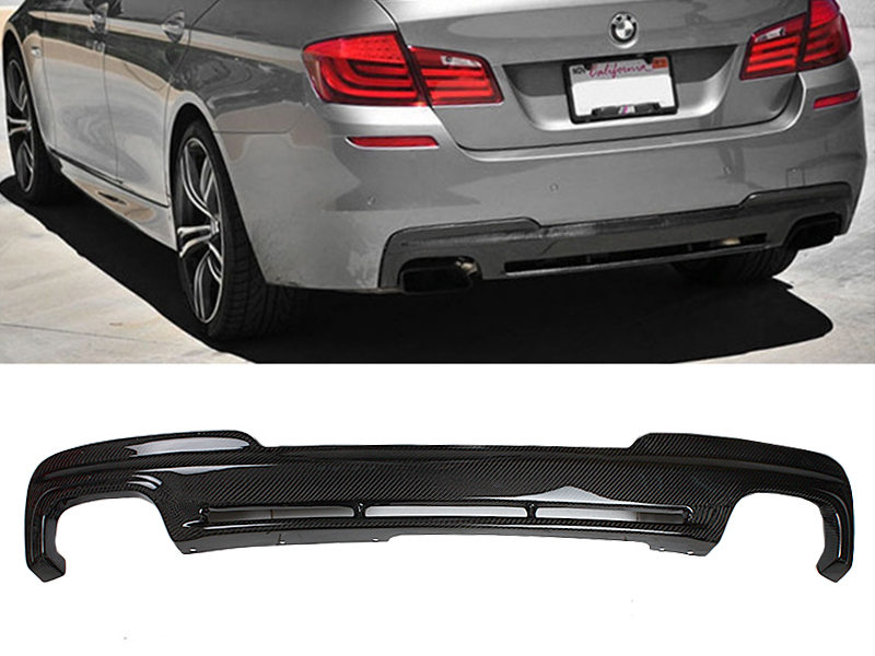 Carbon Rear Diffuser H Style For BMW F10 520i 528i 535i 550i M-Tech Bumper