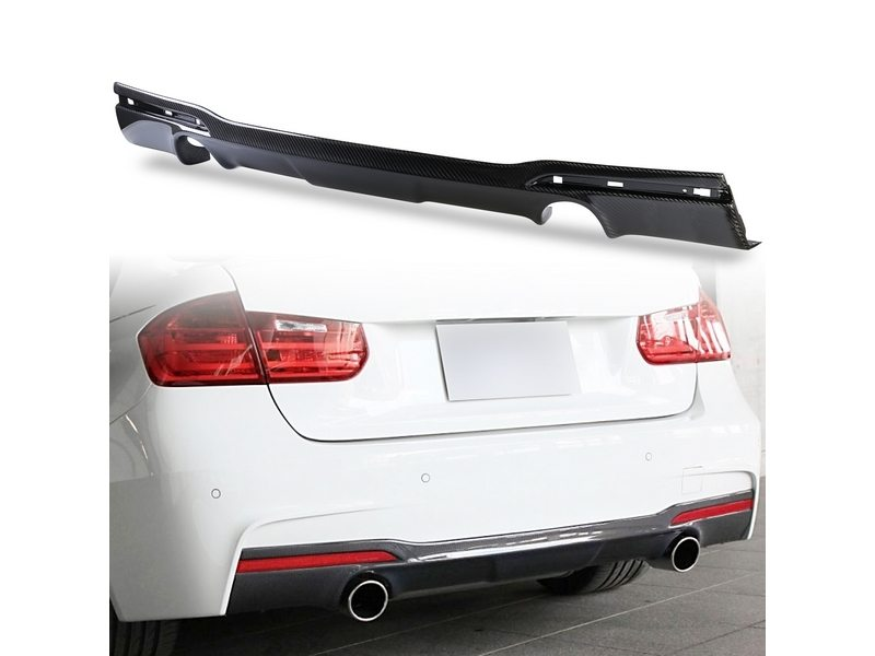 Carbon Rear Diffuser Dual Exhaust Type For BMW F30 335i Sedan M Sport