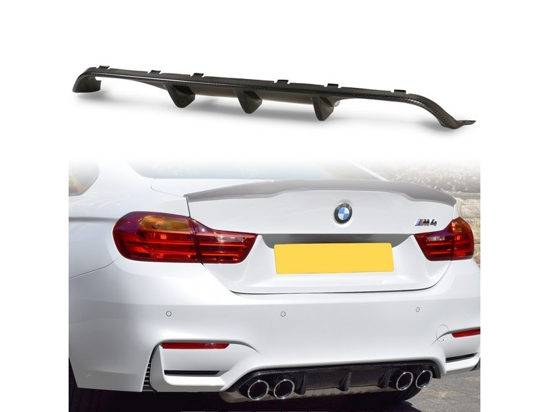 M performance Style Carbon Fiber Rear Diffuser Quad Exhaust BMW F80 M3 F82 M4