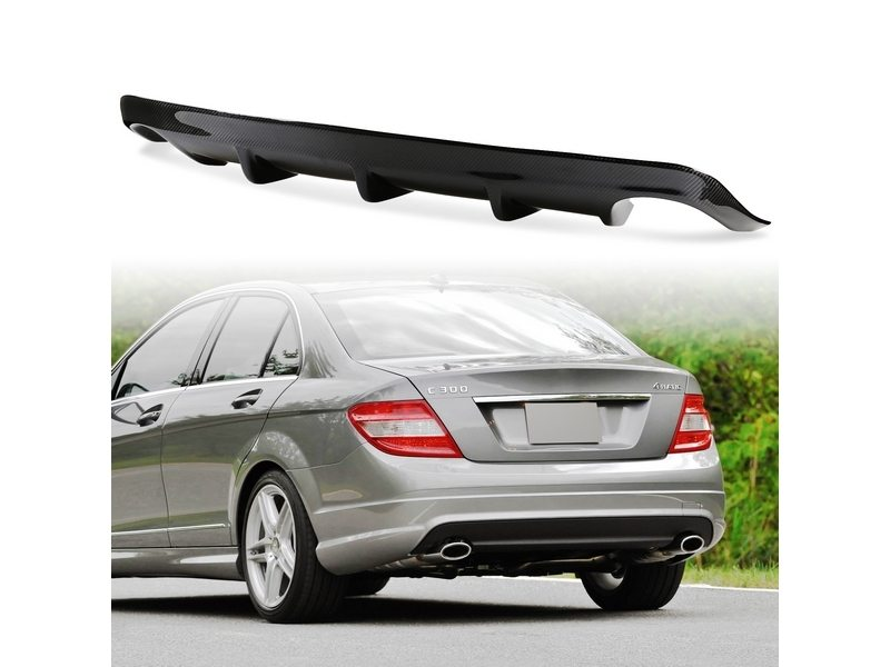 A Style Carbon Fiber Rear Diffuser Single Exhaust For Mercedes Benz W204 C300