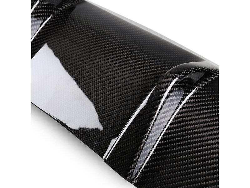 AMG Style Carbon Fiber Rear Diffuser Single Exhaust For Mercedes Benz W204 C300