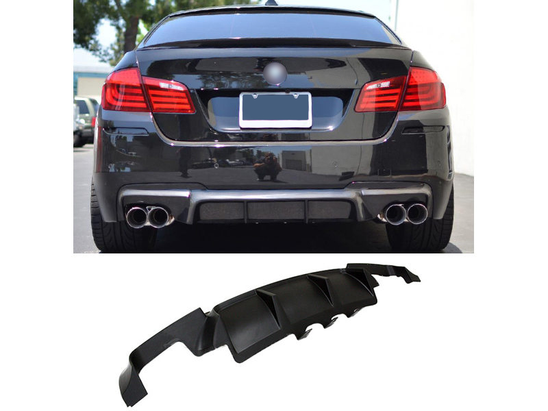 Unpainted V Style PP M Tech Rear Bumper Diffuser For BMW F10 M5 10-15