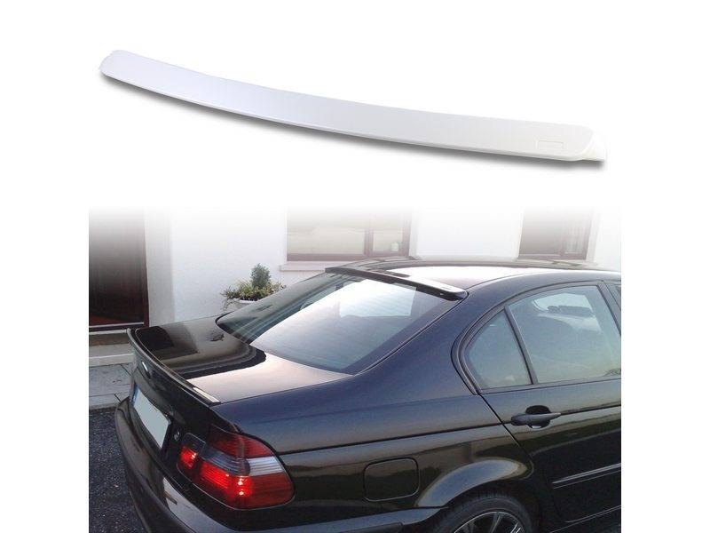 Unpainted AC Style ABS Aero Roof Spoiler Wing Visor For BMW E46 4D 99-05