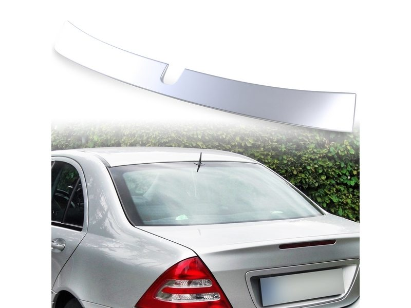 Painted ABS roof spoiler for Mercedes Benz W203 L TYPE Iridium Silver 775