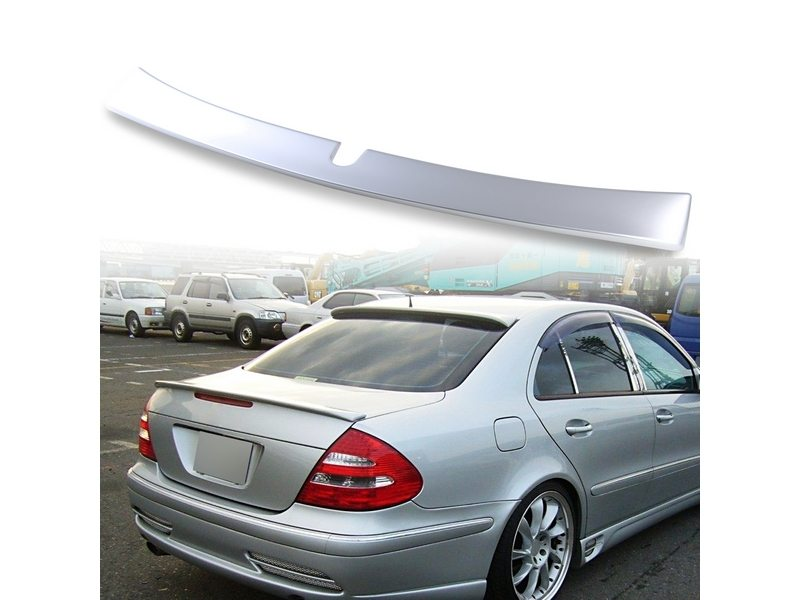 Painted ABS roof spoiler for Mercedes Benz W211 L TYPE Brilliant Silver 744