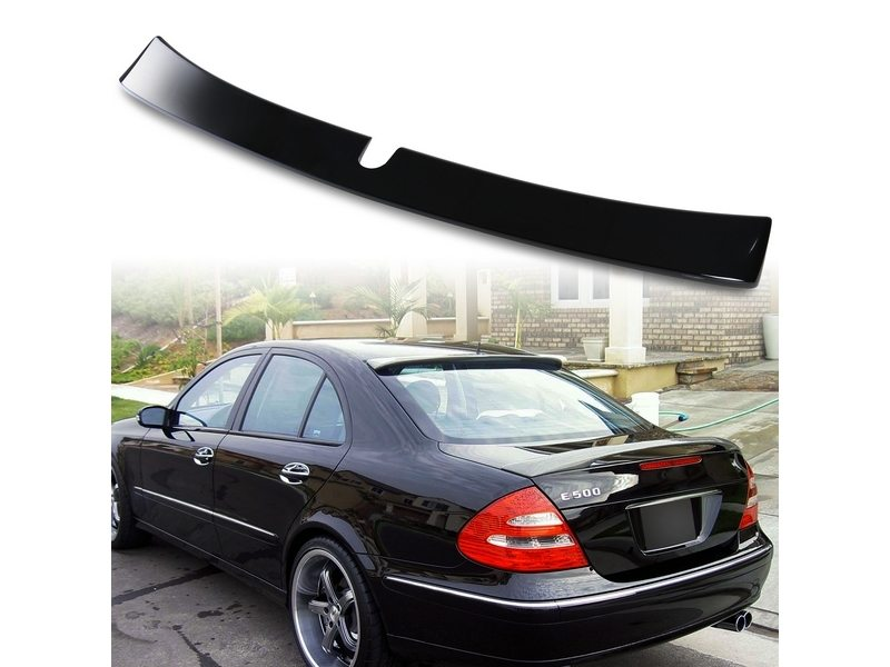 Painted ABS roof spoiler for Mercedes Benz W211 L TYPE Black 040