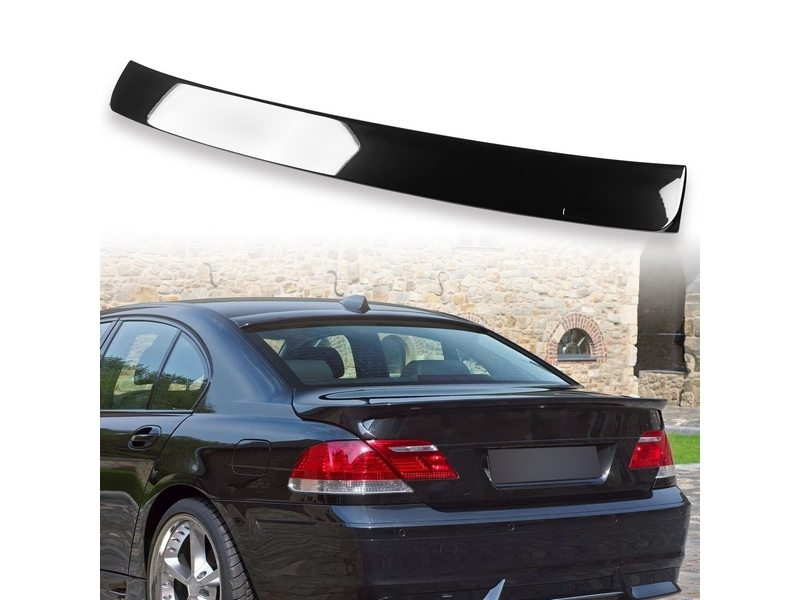 Painted ABS roof spoiler for BMW E65 AC TYPE Jet Black 668