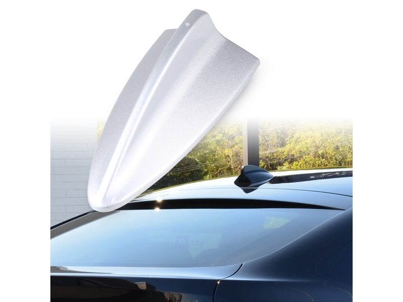 BMW M3 STYLE SHARK FIN AERIAL DUMMY ANTENNA PAINTED SILVER