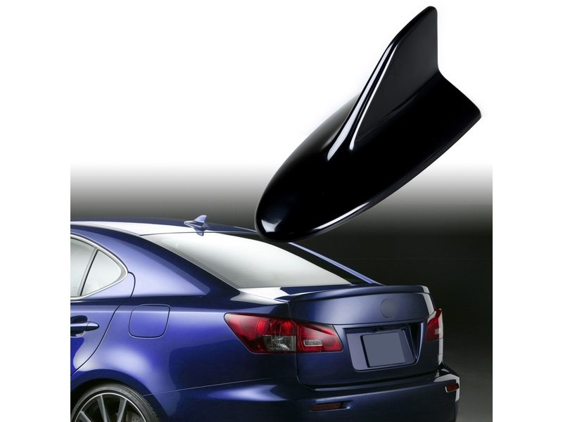 Universal Fit Lexus IS-F Style Shark Fin Aerial Dummy Antenna Black ABS
