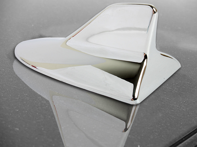 Chrome Lexus IS-F Style Shark Fin Static Aerial Dummy Antenna Universal Fit
