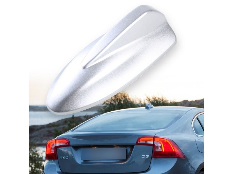 Painted Silver VOLVO C30 Style Shark Fin Static Aerial Dummy Antenna Universal