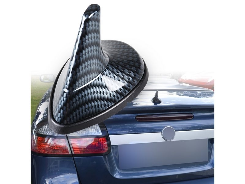 Carbon Look SAAB Style Shark Fin Static Aerial Dummy Antenna Universal Fit