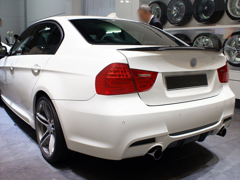 BMW E90 Real Carbon Fiber Rear Trunk Boot Spoiler