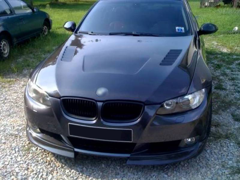 BMW E92 CSL Look Real Carbon Fiber Front Splitter Spoiler