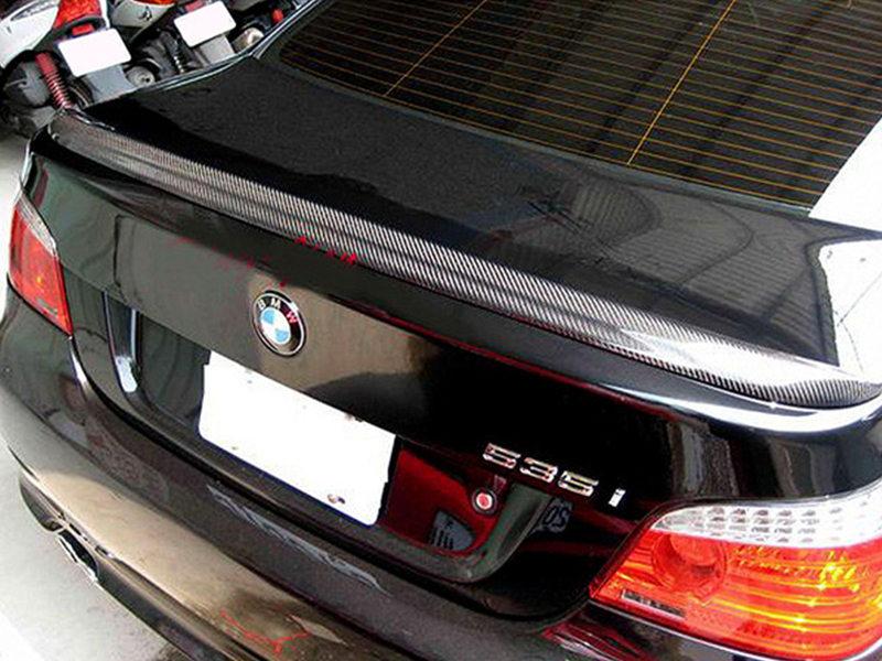 BMW 5 Series E60 Sedan M5 Style Carbon Fiber Rear Boot Trunk Spoiler 530i 535i