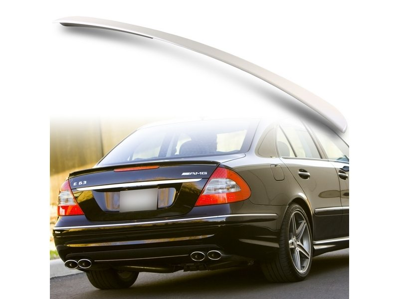 Unpainted AMG Style ABS Aero Rear Trunk Boot Spoiler Wing For Mercedes Benz W211 03-09