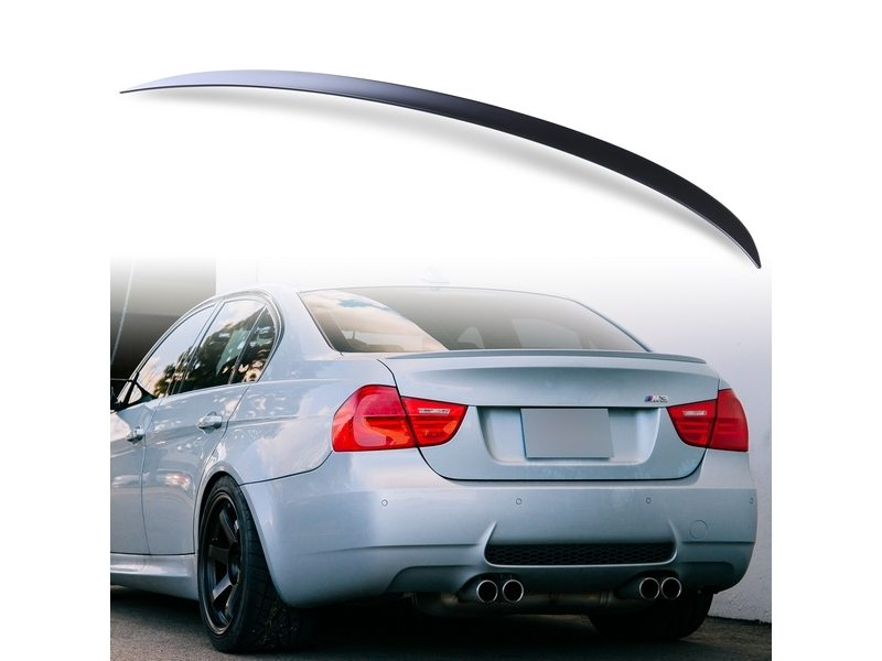 Unpainted M3 Style ABS Aero Rear Trunk Boot Spoiler Wing For BMW E90 05-12