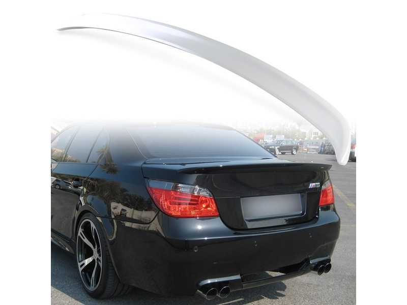 Unpainted ABS Aero Rear Trunk Boot Spoiler Wing For BMW E60 2004-2010