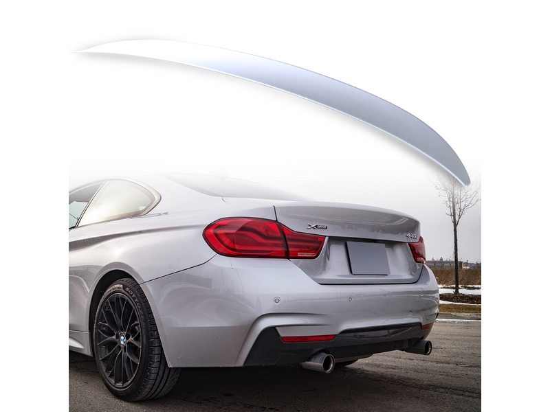 Painted ABS trunk spoiler for BMW F32 Performance Type Titan Silver 354