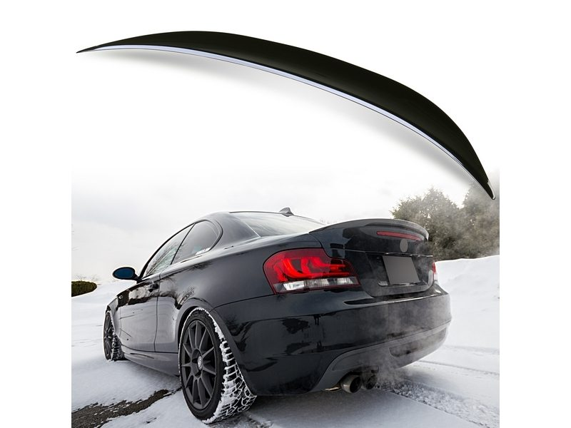 Painted ABS trunk spoiler for BMW E82 Performance Type Black Saphire 475