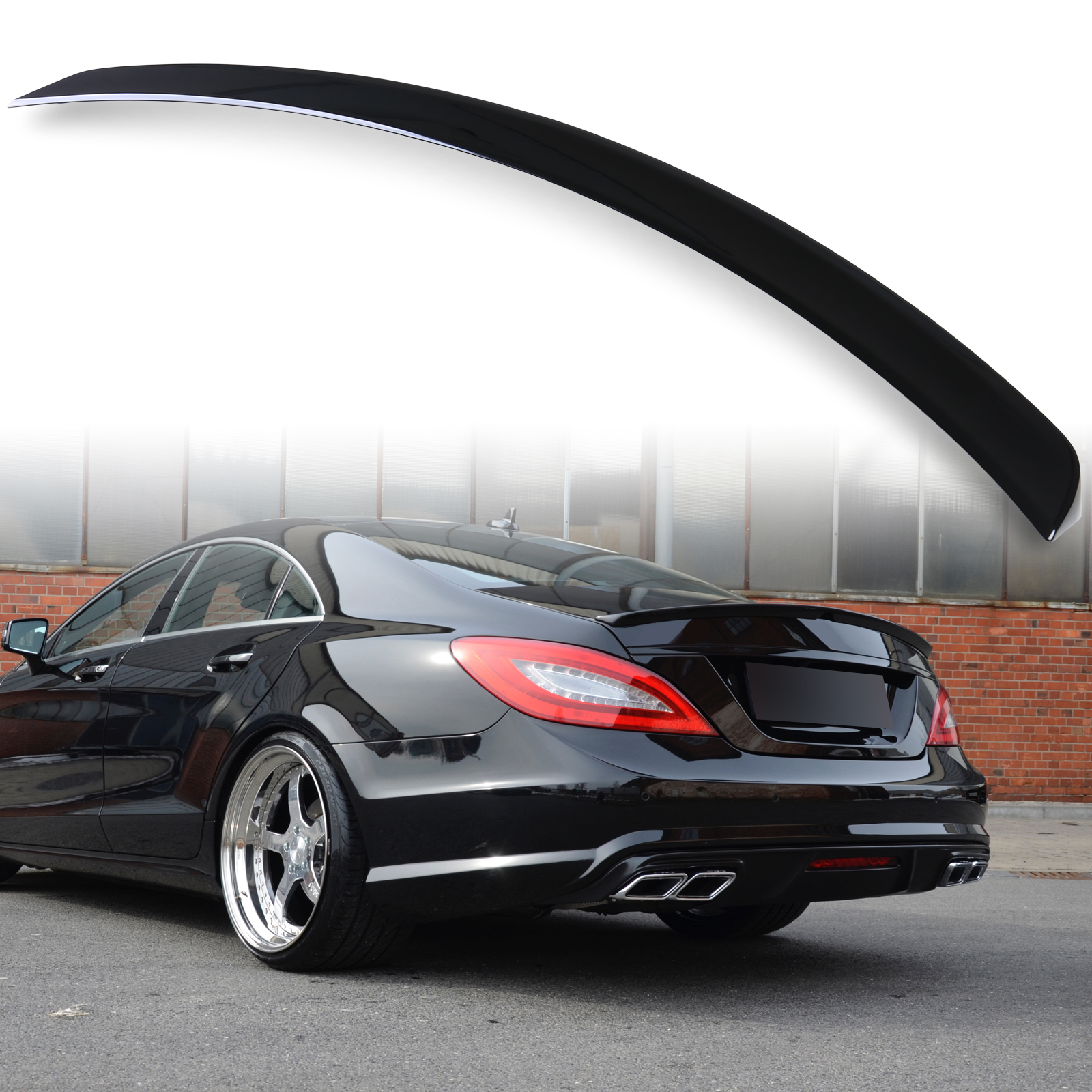 Painted ABS trunk spoiler for Mercedes Benz W218 AMG STYLE Black 040