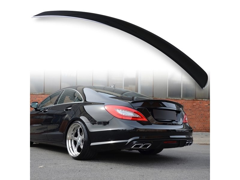 Painted ABS trunk spoiler for Mercedes Benz W218 AMG STYLE Obsidian Black 197