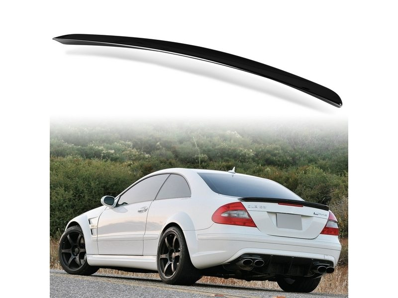 Painted ABS trunk spoiler for Mercedes Benz W209 AMG STYLE Obsidian Black 197