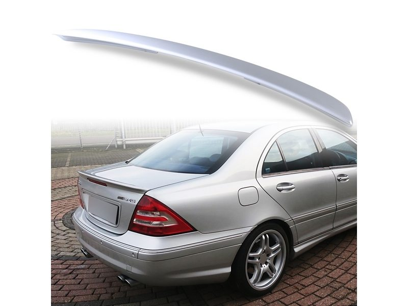 Painted ABS trunk spoiler for Mercedes Benz W203 AMG STYLE Iridium Silver 775