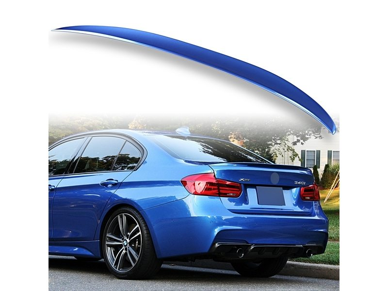 Painted ABS trunk spoiler for BMW F30 Performance Type Estoril Blue B45