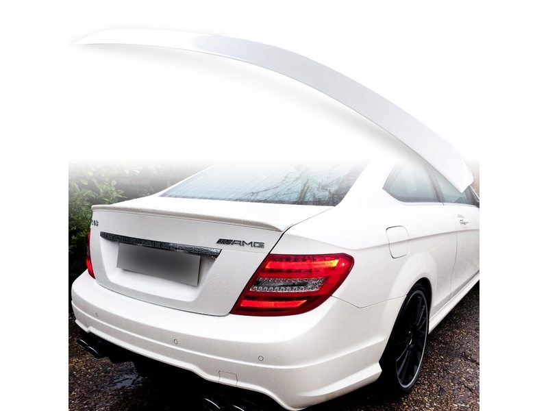 Painted ABS trunk spoiler for Mercedes Benz C204 AMG STYLE Calcite White 650