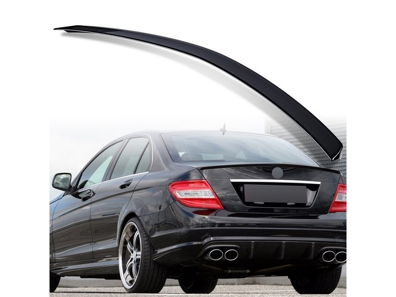 Painted ABS trunk spoiler for Mercedes Benz W204 AMG STYLE Black 040