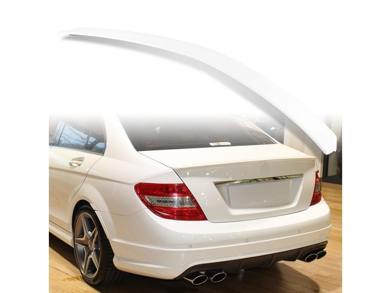 Painted ABS trunk spoiler for Mercedes Benz W204 AMG STYLE Calcite White 650