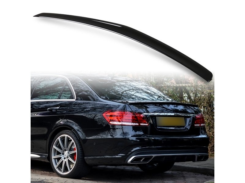 Painted ABS trunk spoiler for Mercedes Benz W212 AMG STYLE Obsidian Black 197