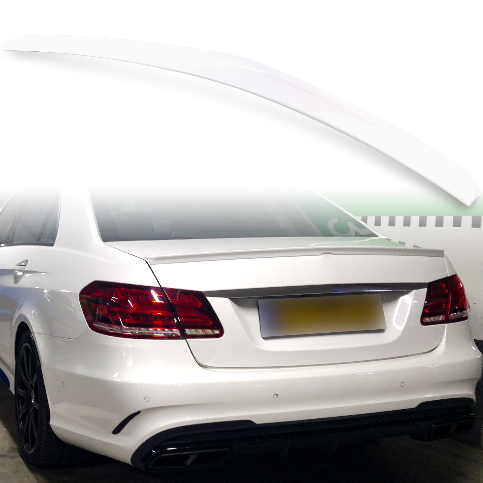 Painted ABS trunk spoiler for Mercedes Benz W212 AMG STYLE Calcite White 650