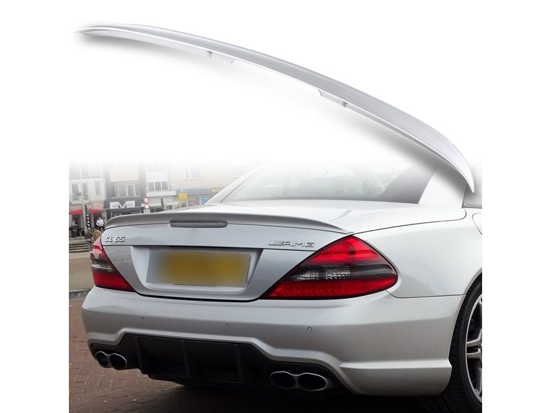 Painted ABS trunk spoiler for Mercedes Benz R230 AMG STYLE Iridium Silver 775