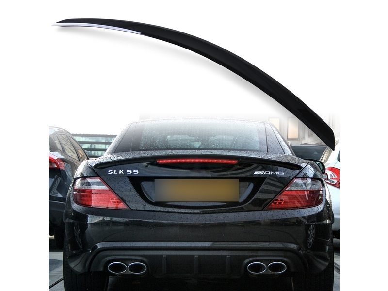 Painted ABS trunk spoiler for Mercedes Benz R172 AMG STYLE Obsidian Black 197