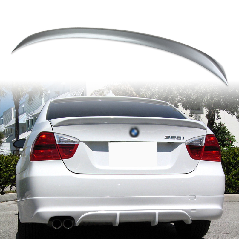 Painted ABS trunk spoiler for BMW E90 OE STYLE Space Gray A52