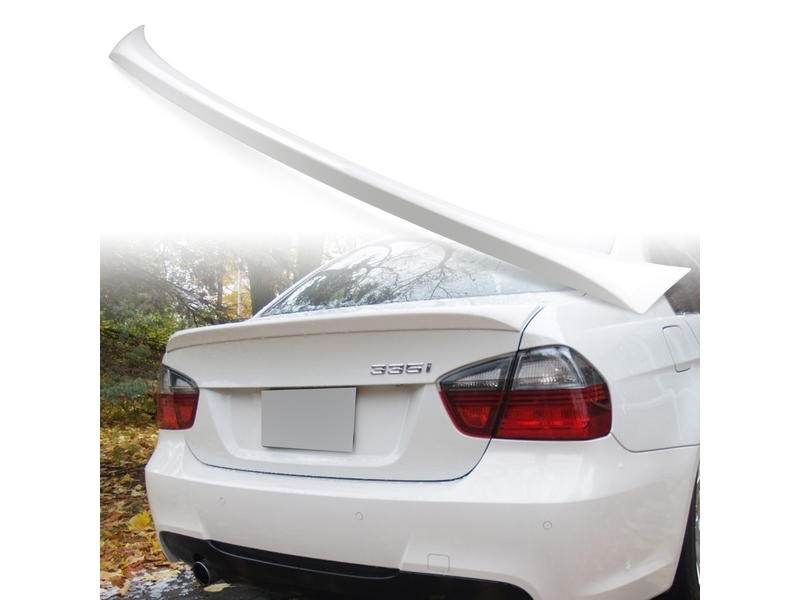 Painted ABS trunk spoiler for BMW E90 OE STYLE Alpine White III 300