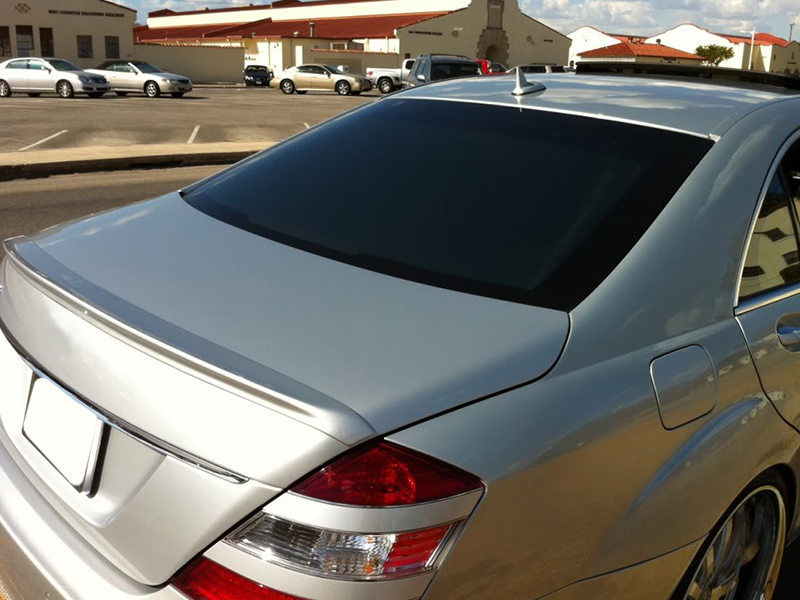 A Style Unpainted Trunk Spoiler ABS For Mercedes Benz W221 S350 S550