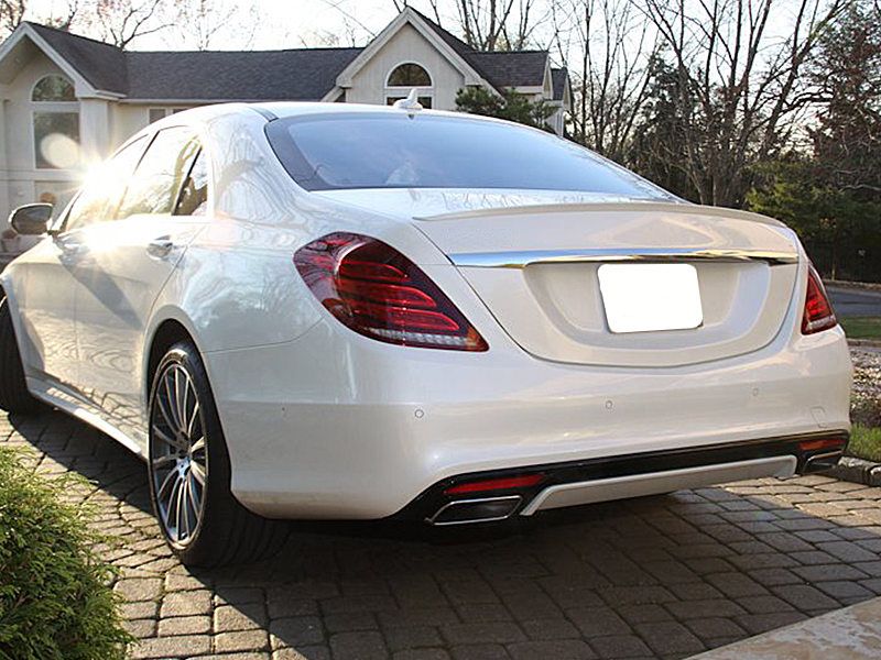 A Style Unpainted Trunk Boot Spoiler For Mercedes Benz W222 S500 S550