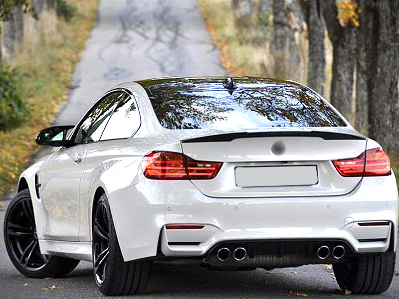 Carbon Fiber V Performance Style Rear Trunk Spoiler Wing For BMW F82 M4