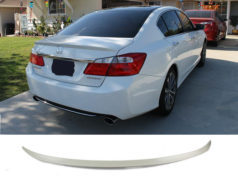 OE Type Unpainted Rear Trunk Boot Spoiler Wing Honda Accord 4D Sedan 13-16