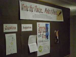 A board meant to inspire students at CUTS.