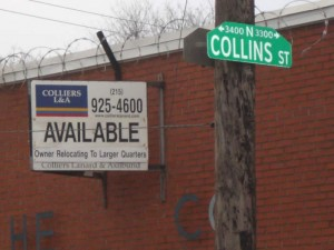 The intersection of Ontario and Collins Streets serves as a potential Truck Staging Center.